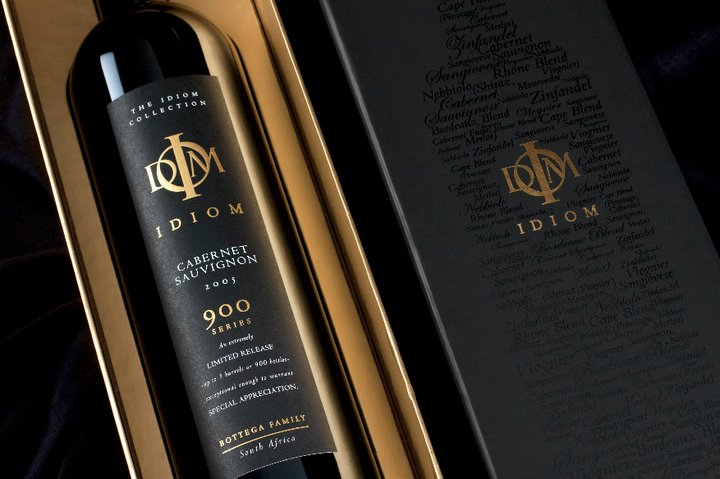 luxury packaging wine Idiom
